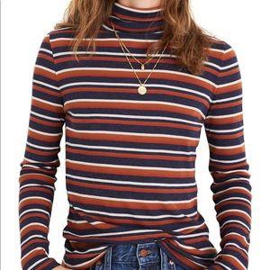Madewell striped turtleneck tshirt